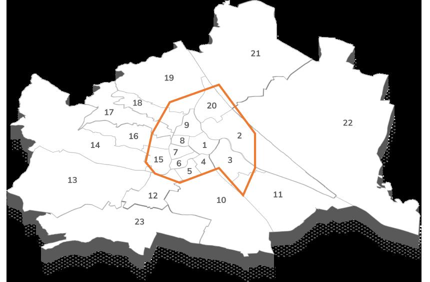 Karte Wien, City Logistik, City Hub Wien