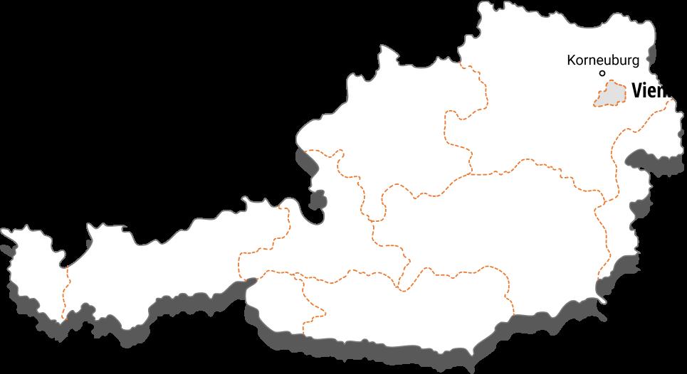Karte Österreich, Standorte Österreich